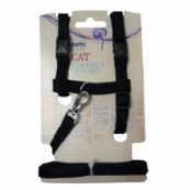 Black Nylon Cat Harness