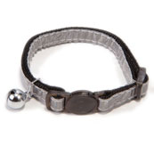 Reflective Silver Nylon Cat Collar