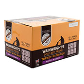 Wainwright's Puppy Tray Dog Food with Turkey and Rice 395gm 12 Pack