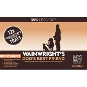 Wainwright's Light Adult Tray Dog Food with Turkey and Rice 395gm 12 Pack