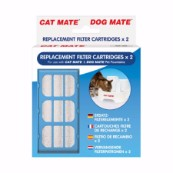 Replacement Filter Cartridges x 2 for Cat Mate and Dog Mate Fountains