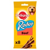 Pedigree Rodeo with Beef 8 Pack 140g