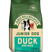 James Wellbeloved Complete Junior Dog Food with Duck and Rice