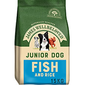 James Wellbeloved Complete Junior Dog Food with Fish and Rice
