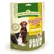 James Wellbeloved Crackerjacks Cereal Free Dog Treats Lamb 225gm (Online Only)