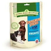 James Wellbeloved Crackerjacks Dog Treats Fish 225gm