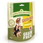 James Wellbeloved Mini-Jacks Cereal Free Dog Treats Lamb 90gm (Online Only)