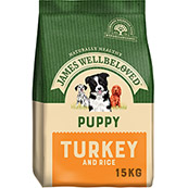 James Wellbeloved Complete Puppy Food with Turkey and Rice