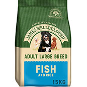 James Wellbeloved Large Breed Adult Complete Dog Food with Fish and Rice 15kg (Online Only)