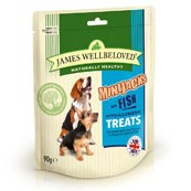 James Wellbeloved Mini-Jacks Dog Treats Fish 90gm (Online Only)