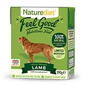 Naturediet Tray Adult Dog Food with Lamb, Vegetables & Rice 390gm