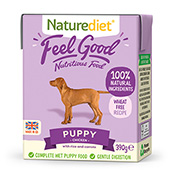 Naturediet Tray Puppy / Junior Dog Food with Chicken, Lamb, Vegetables & Rice 390gm