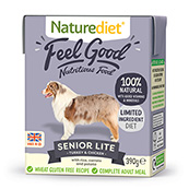 Naturediet Tray Senior / Light Dog Food with Rabbit, Turkey, Vegetables & Rice 390gm