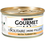 Gourmet Solitaire Premium Fillets With Turkey 85g