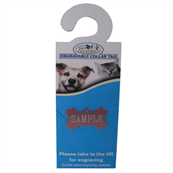 Small Double Sided Engravable Pink Bone Dog Tag by Pets at Home