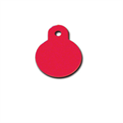 Small Double Sided Engravable Red Circle Dog Tag by Pets at Home