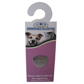Small Engravable Chrome Jewelled Dog Collar Tag by Pets at Home