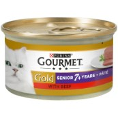 Gourmet Gold Senior Selections Pate with Beef 85g