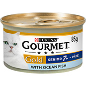 Gourmet Gold Senior Pate with Ocean Fish 85g