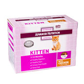 Advanced Nutrition Pouch Cat Kitten with Chicken 12 x 85g