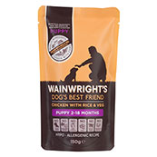 Wainwright's Puppy Pouch Chicken With Rice and Veg 150g