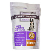 Advanced Nutrition Light and Sensitive Dog Treats 200g