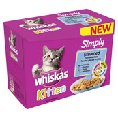 Whiskas Simply Kitten Steamed Fish 12 x 85g