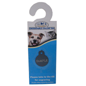 Small Double Sided Engravable Blue Circle Dog Tag by Pets at Home