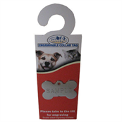 Small Double Sided Engravable Chrome Bone Dog Tag by Pets at Home