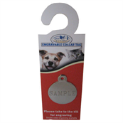 Large Double Sided Engravable Chrome Circle Dog Tag by Pets at Home