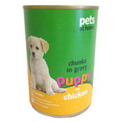 Meat Chunks in Gravy with Chicken Puppy Food 400g