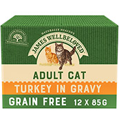 James Wellbeloved Cat Turkey Adult Pouch 12 x 85gm