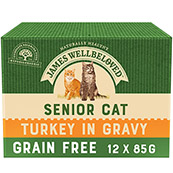 James Wellbeloved Cat Turkey Senior Pouch 12 x 85gm