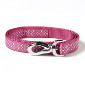 Hot Pink Spotty Dog Lead Medium