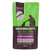 Wainwright's Puppy Food Lamb with Rice and Veg 150g