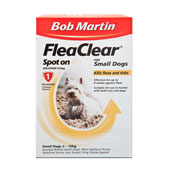 Bob Martin Flea Clear Spot On Solution 1 x 67mg for Small Dogs 2 - 10kg