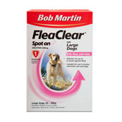 Bob Martin Flea Clear Spot On Solution 1 x 268mg for Large Dogs 20 - 40kg