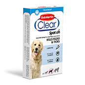 Bob Martin Flea Clear Spot On Solution 3 x 268mg for Large Dogs 20 - 40kg