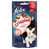 Felix Crispies Cat Treats with Salmon and Trout 45g