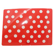 Polka Dots Feeding Mat Red