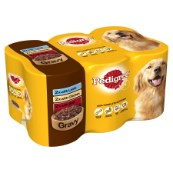 Pedigree Cans with Marrowbone in Gravy 6 x 400g