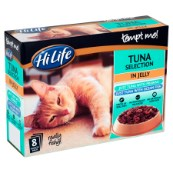 HiLife tempt me! Adult Tuna Selection in Jelly 8 x 85g Multipack