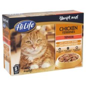 HiLife tempt me! Senior Chicken Terrines 8 x 85g Multipack