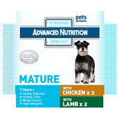 Advanced Nutrition Mature Dog Food with Chicken 4 x 395g