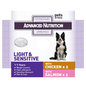 Advanced Nutrition Light and Sensitive with Chicken 4 x 395g