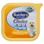 Butchers Choice made with Chicken and Ham with vegetables 150g