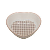 Heart Melamine Cat Bowl