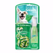 Tropiclean Fresh Breath Liquid Floss Rope Ball (Small)