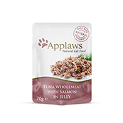 Applaws Tuna Wholemeat with Salmon in Jelly Cat Pouch 70g