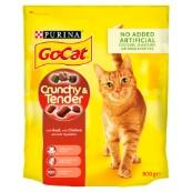 Go Cat Crunchy and Tender Beef and Chicken 800g